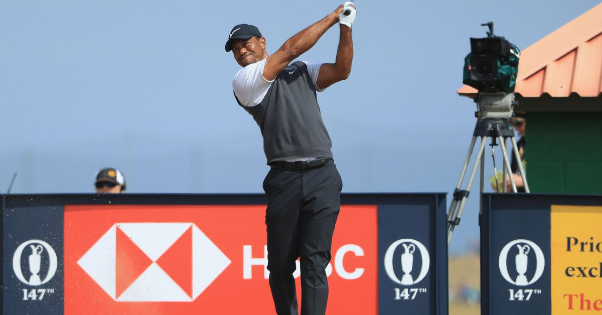 tiger woods charges up british open leaderboard after