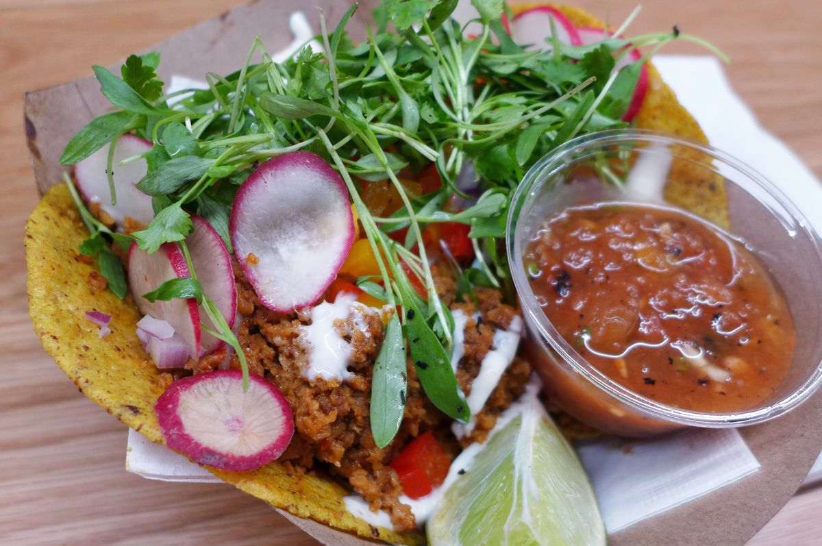 Who'd imagine a vegan chorizo taco would be so good?