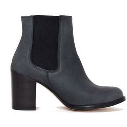 """<b>To Be Announced</b> Ten20 black leather boots, <a href=""""http://www.articleand.com/shoes/boots/to-be-announced-ten20-black-leather.html"""">$187</a> at Article&"""