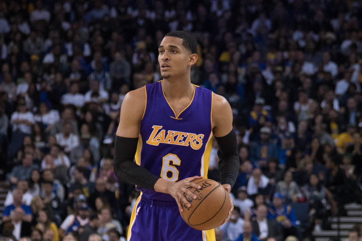 save off 575b1 a7fa6 Lakers News: Jordan Clarkson really wants to play for the ...