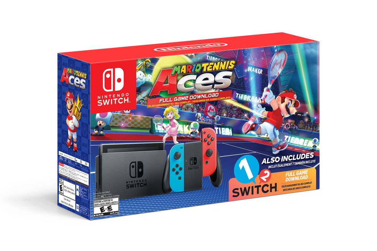 Walmart\'s Nintendo Switch bundle includes Mario Tennis Aces, 1-2 ...