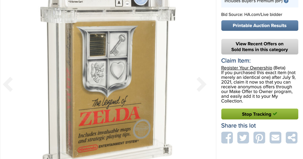 A sealed copy of The Legend of Zelda just sold for nearly a million dollars