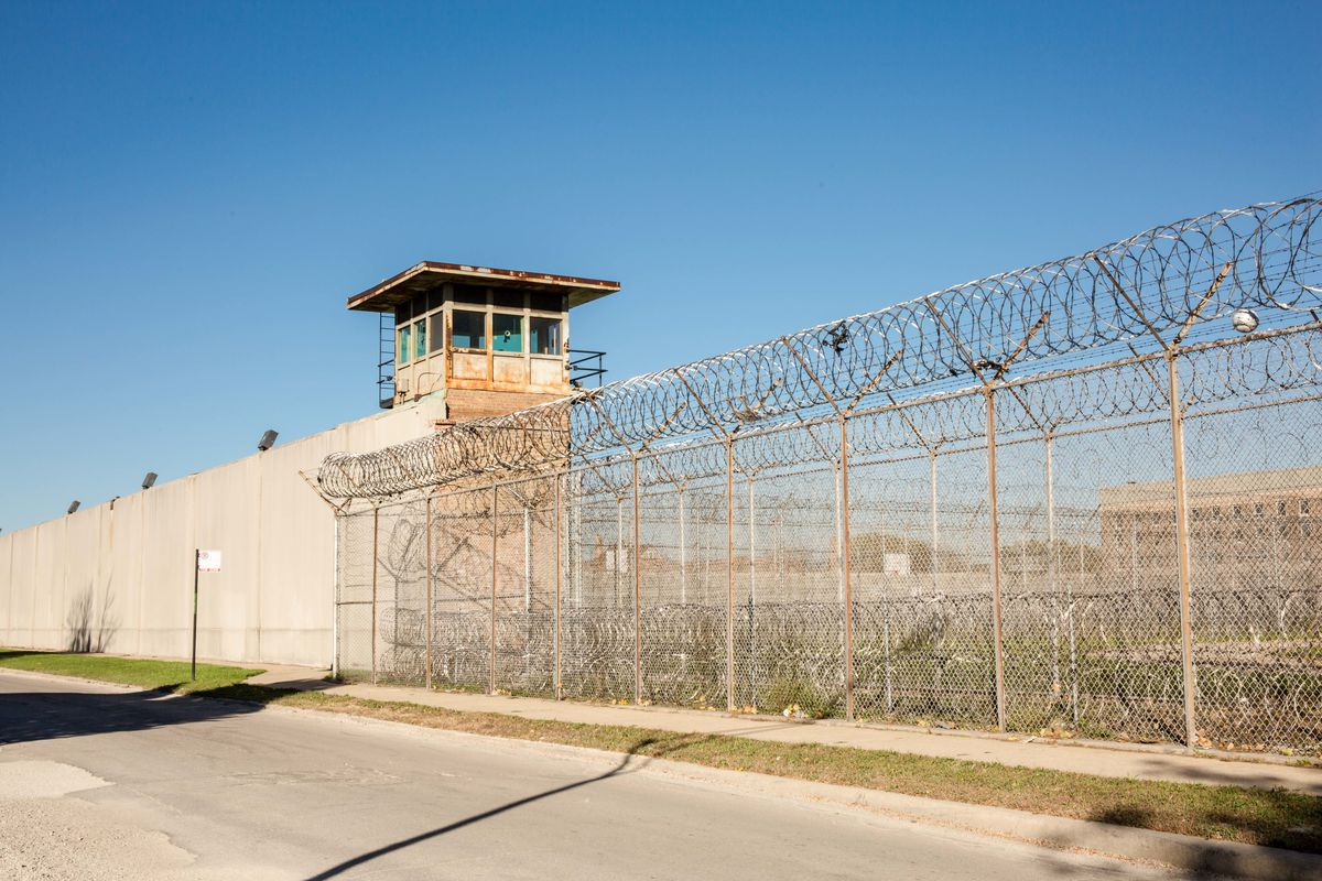 The Cook County Jail on Chicago's Southwest Side. Corrections officer Miguel Ortiz this week pleaded guilty to misdemeanor charges for beating an inmate in 2014.