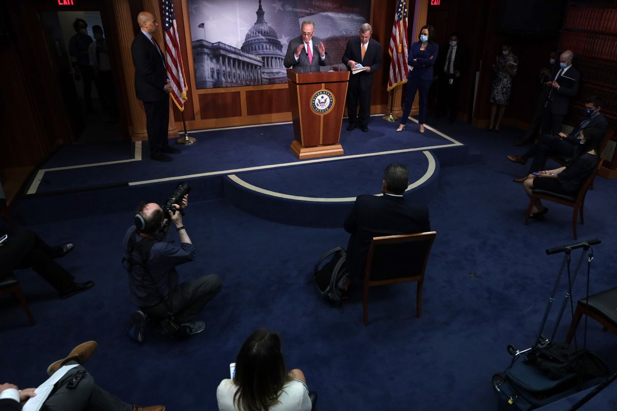Senators Speak To Media After Weekly Policy Luncheons