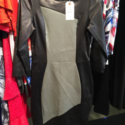 Resort 2015 leather dress, size 6, $759 (was $3,795)