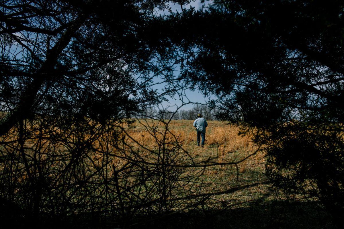 Joel Salatin, at Polyface Farms. Photo by Greg Kahn/GRAIN for The Washington Post via Getty Images