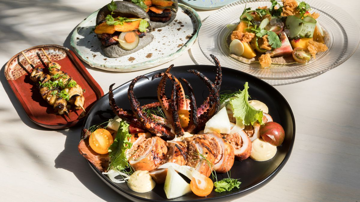 A selection of dishes from chef Francis Ang's upscale Filipino restaurant Abacá