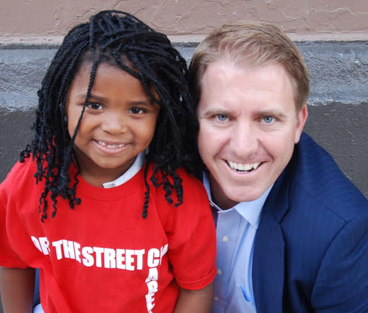 """Chris Mundy with the Off The Street Club's 2012 """"Girl of the Year,"""" Kierra Mayes. Mundy, a longtime benefactor of the West Side club, matched the first $1,000 raised by Vic Maurer's GoFundMe campaign to buy new sports equipment for the city's oldest Boys"""