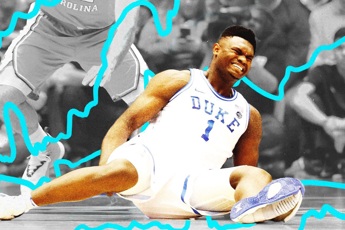 6e0ff569e21 When Zion Williams  shoe exploded on him in late-February