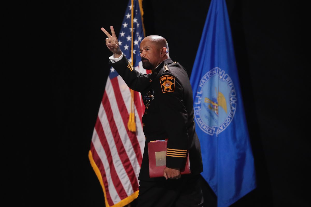 Milwaukee County Sheriff David Clarke at an NRA event.