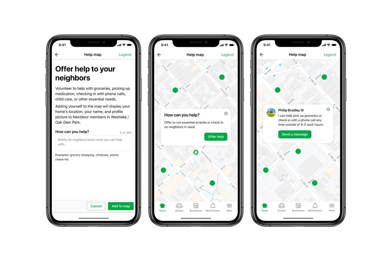 Image of article 'Nextdoor adds features to help neighbors during the coronavirus crisis'