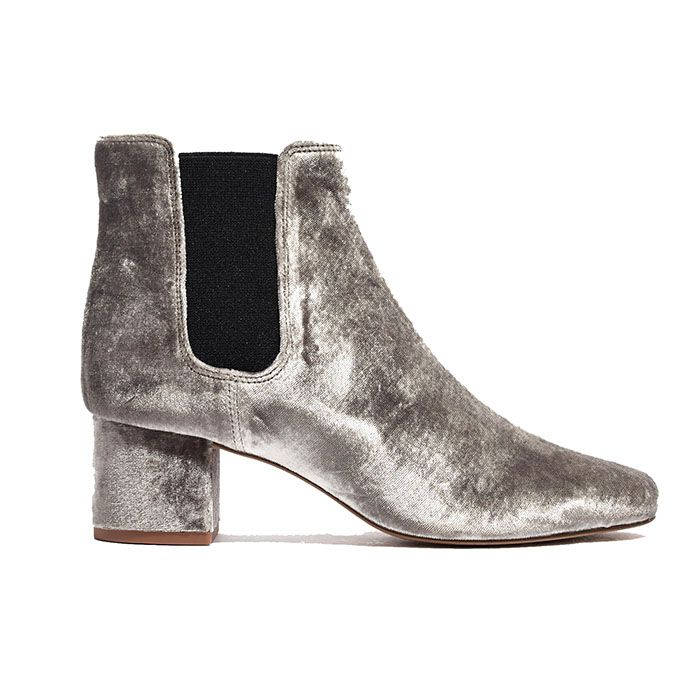 Madewell Walker Velvet Chelsea Boot
