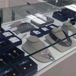 All jewelry, including luxe Swarovski accoutrements, are 20% off.
