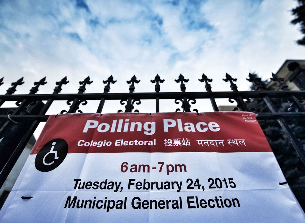 A polling place in the 47th Ward in 2015. File Photo.