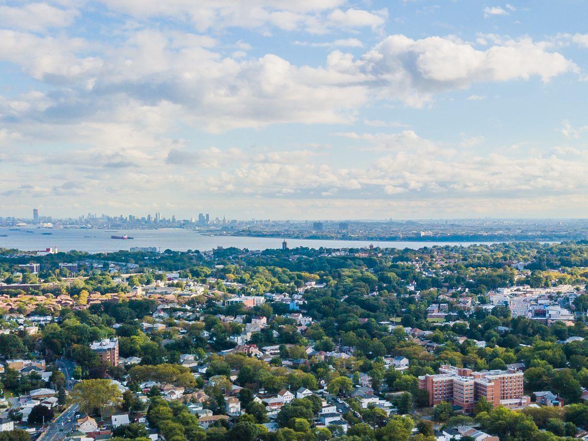 A birds eye view of Staten Island