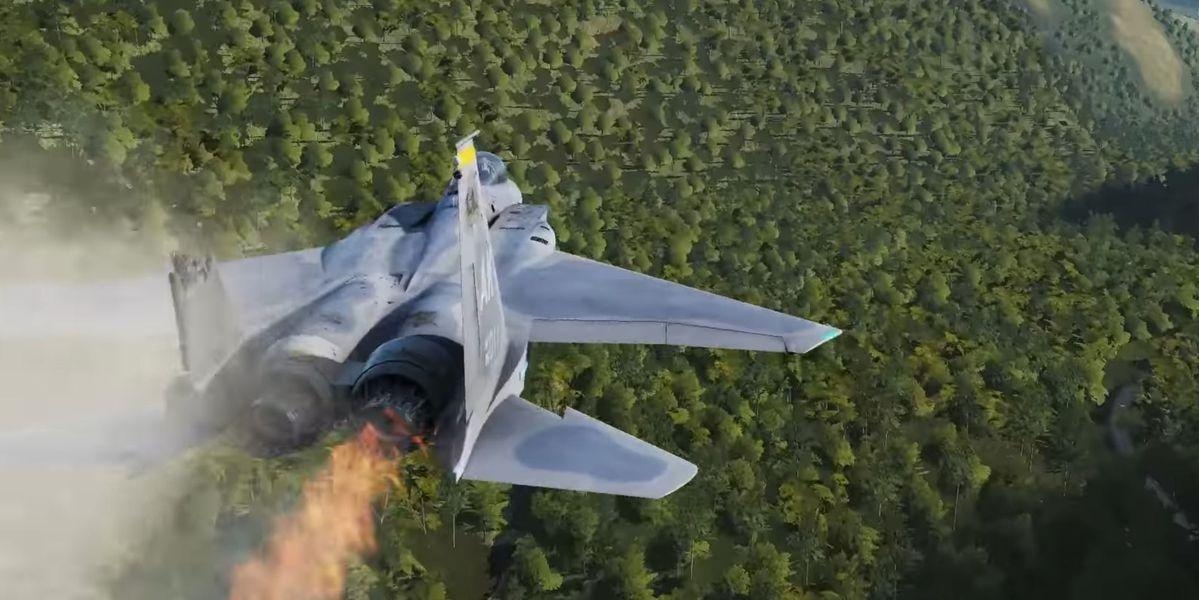 Watch virtual fighter jocks fly multimillion-dollar warplanes through simulated bullet hell
