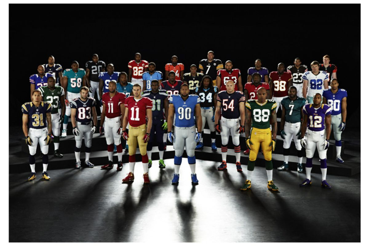 info for 91556 54c53 New Nike NFL Uniforms: Detroit Lions' Jersey Goes Largely ...