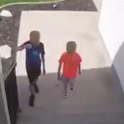 Eli and Bronx Squire returned a quarter they found on the ground, along with a toy. Their discussion on whether they should return the items or keep them was caught on camera. In Clearfield, Thursday, April 17, 2017.