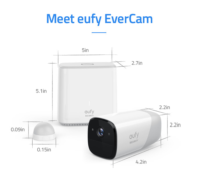 Anker's EverCam is a truly wireless smart security camera with 365