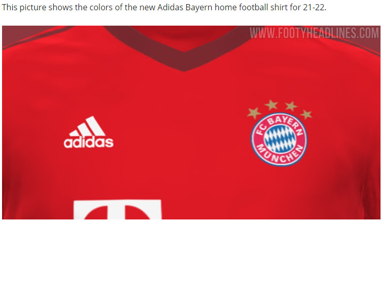 Kit Leak Take A Sneak Peek At Bayern Munich S 2021 22 Home Kit Bavarian Football Works