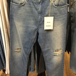 Acne Studios pop trash jeans with drop crotch, $105 (from $350)