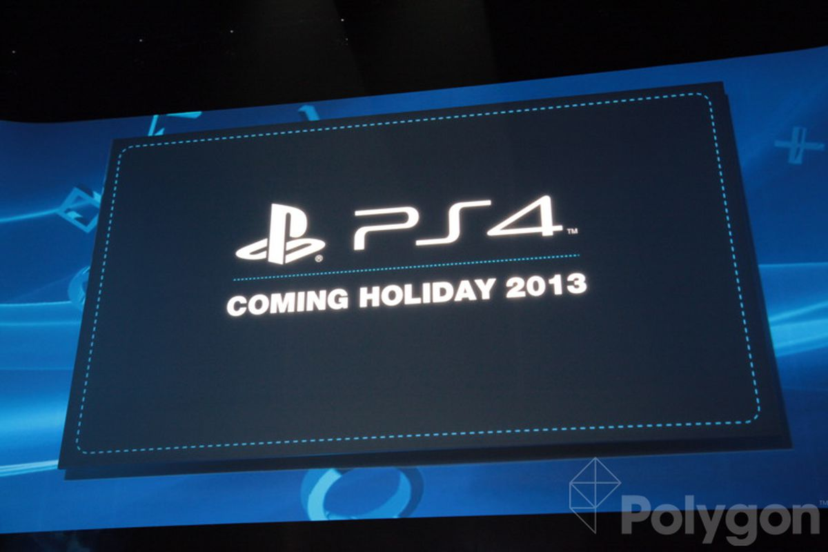 PS4 confirmed for holiday 2013 release - Polygon