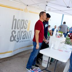 Hops & Grain poured their signature Alteration and Pale Dog brews.