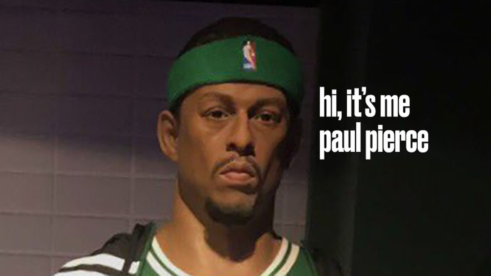 This Paul Pierce wax statue is an absolute travesty