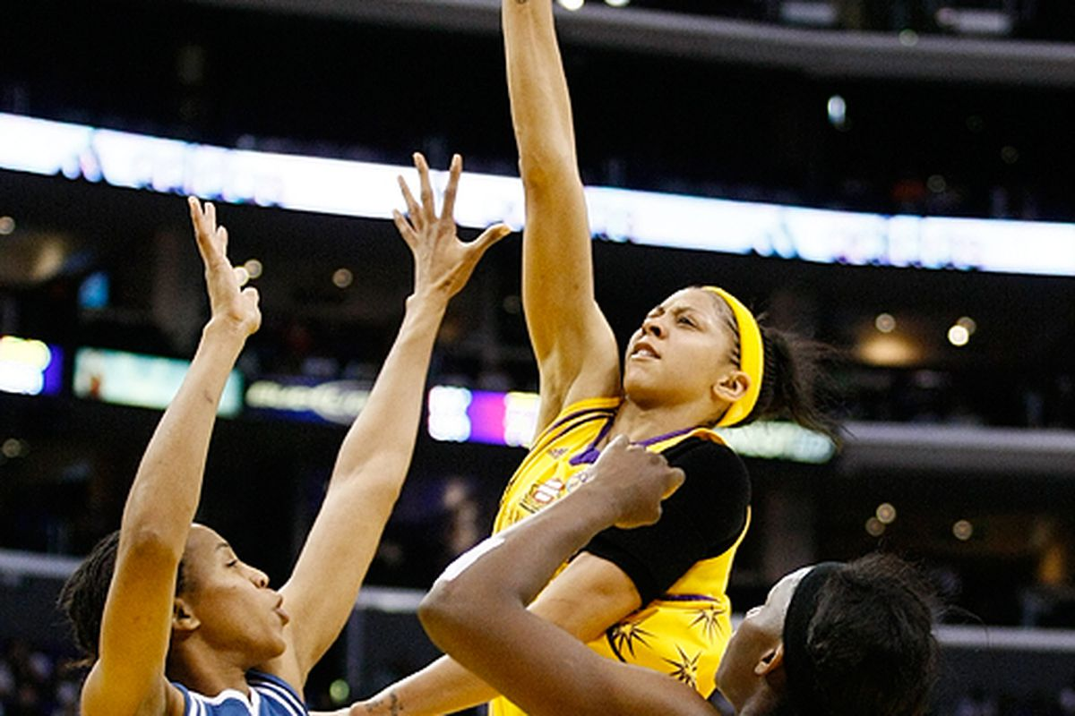 It takes a team to defend Los Angeles Sparks forward Candace Parker. And even then, is it really possible for a team to stop her twice?