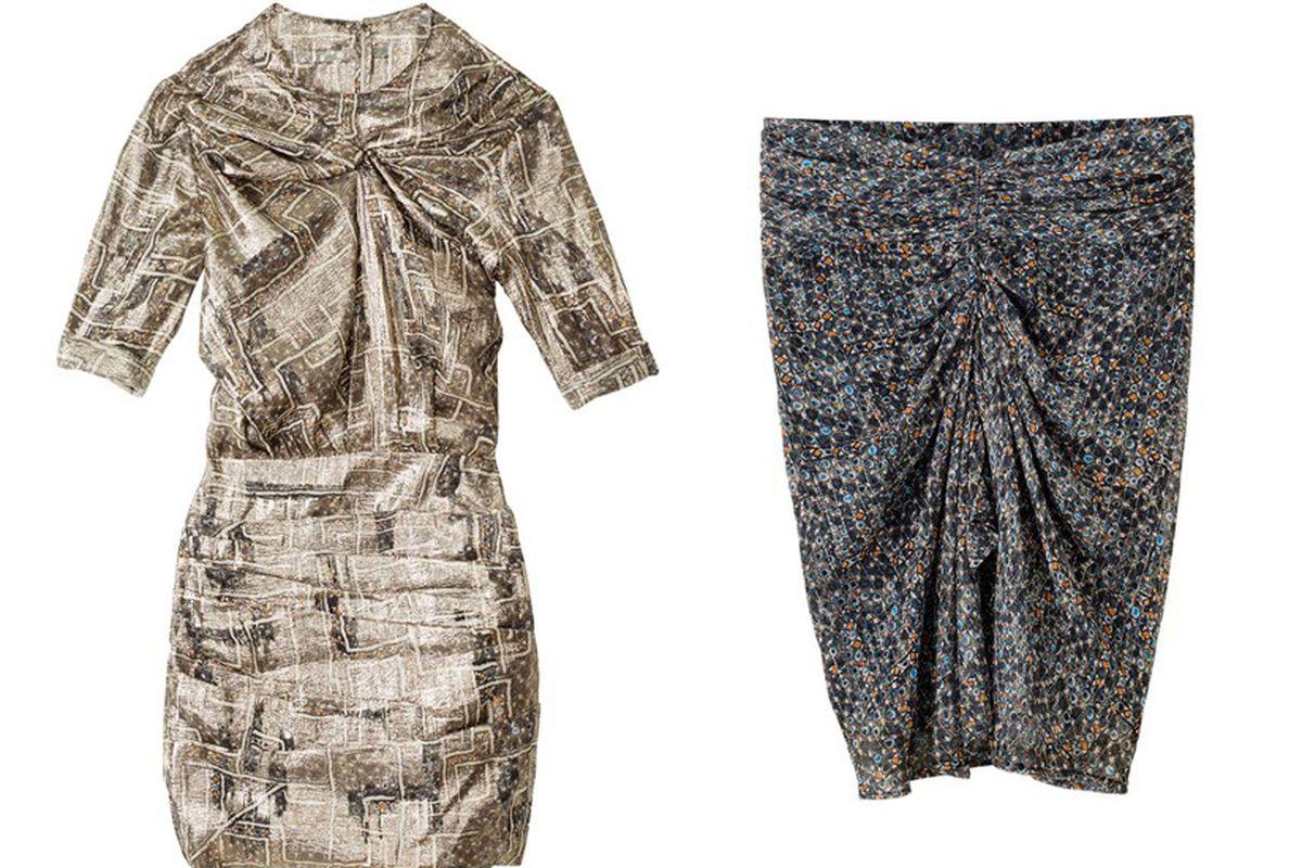 Best bets: Isabel Marant x H&M silk dress, $129, and silk skirt, $79.95