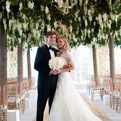 Draped in Vera Wang, Ivanka Trump wed Jared Kushner on October 25th, 2009.