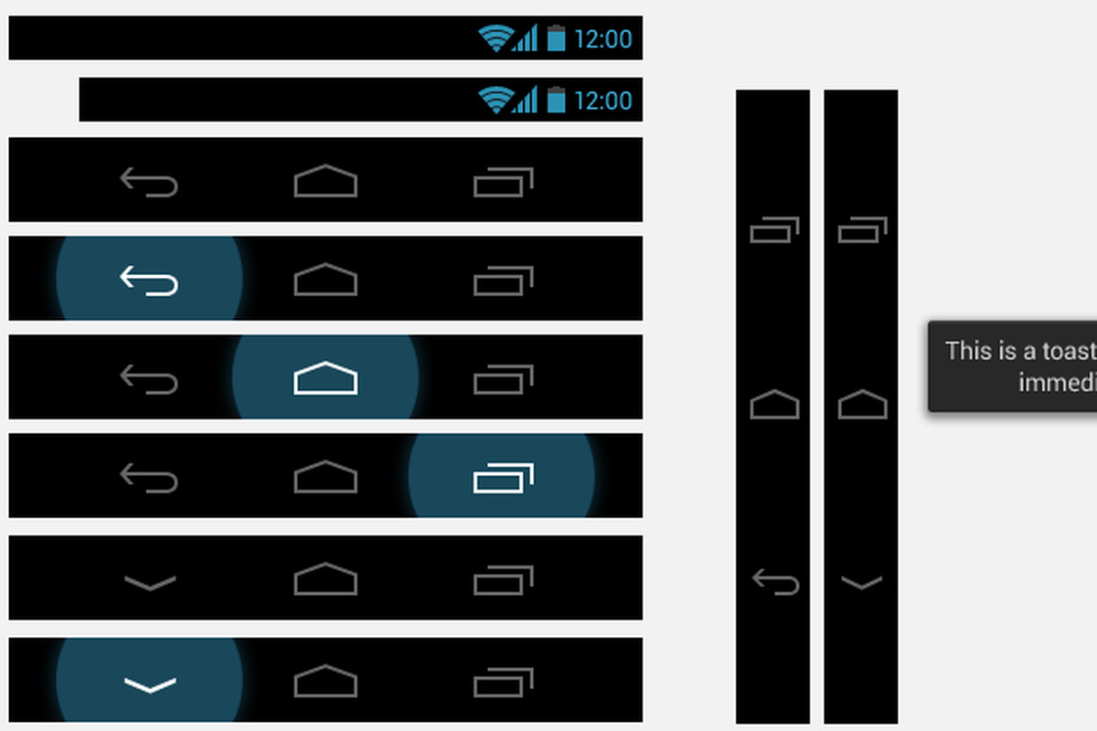 Android 4.0 stencils