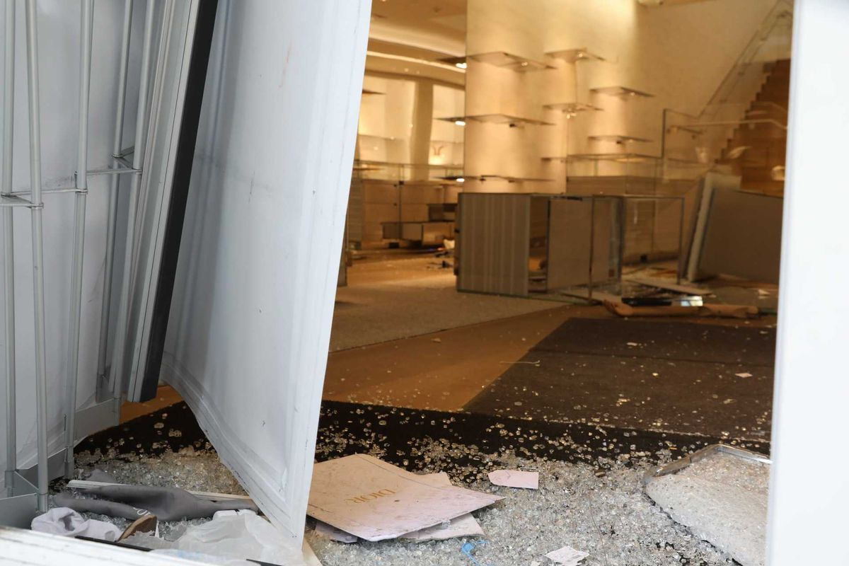The Dior store at Rush and Walton streets was among the high-end boutiques looted early Monday.
