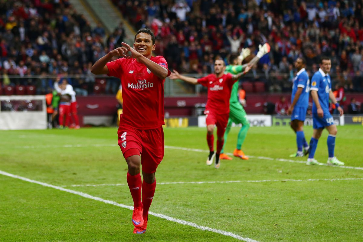 Carlos Bacca scored 49 goals and won the Europa League twice in two seasons with Sevilla.