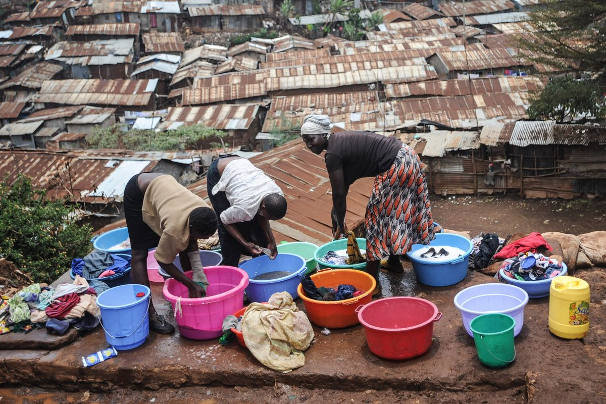 Kibera slum located in Nairobi, Kenya, in 2014.