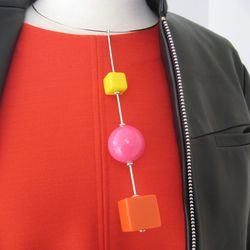 The Calder-inspired necklace.