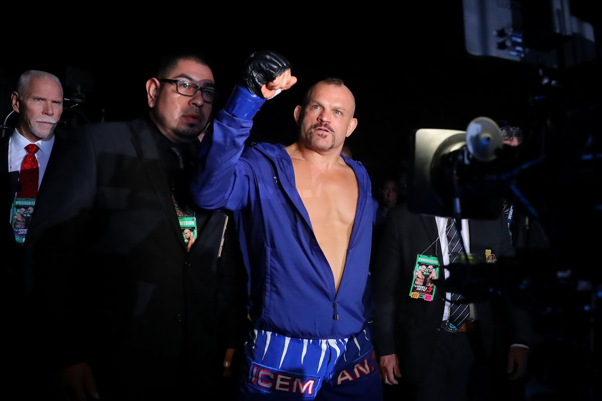 Chuck Liddell before his third fight with Tito Ortiz in 2018.