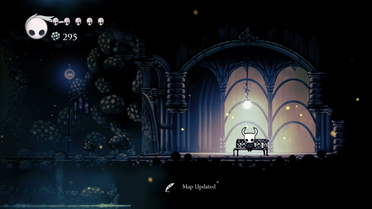los bancos Hollow Knight
