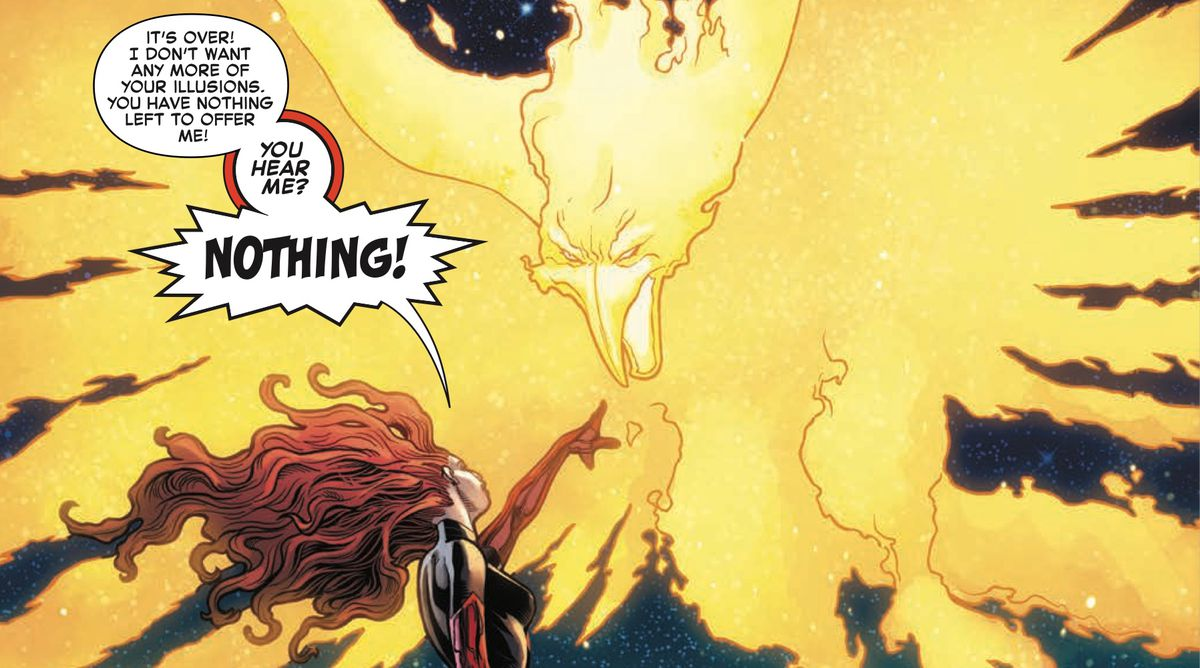 Jean Greay and the Phoenix, from Phoenix: Resurrection #5, Marvel Comics 2018.