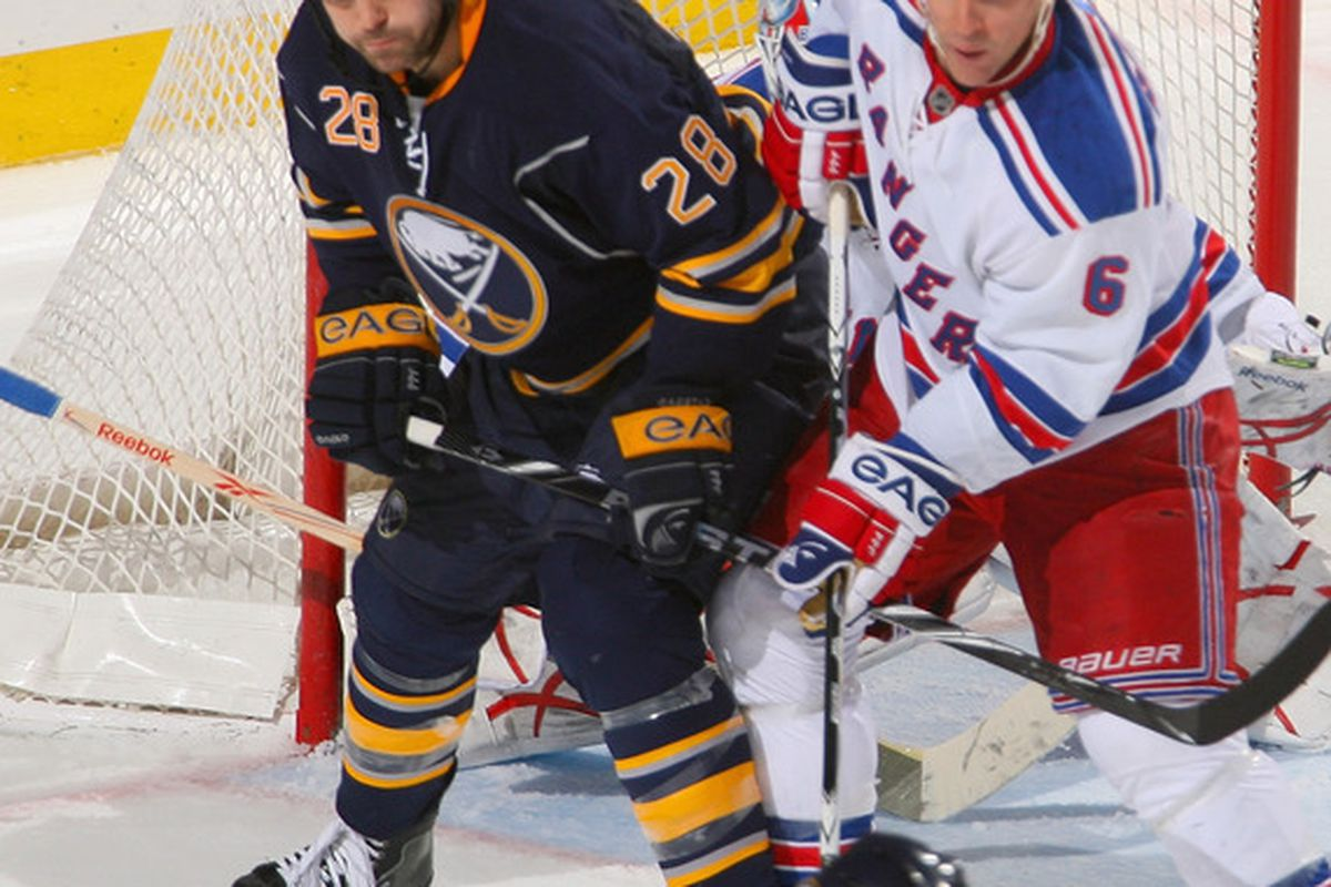 The only photo of Wade Redden still available.  (Photo by Rick Stewart/Getty Images)