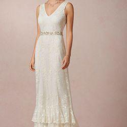 """<a href=""""http://www.bhldn.com/shop-the-bride-wedding-dresses/madeline-gown/productoptionids/fbcaeb8b-b90b-4e9a-9313-32da085940dd"""">Madeline Gown</a>, $1000"""