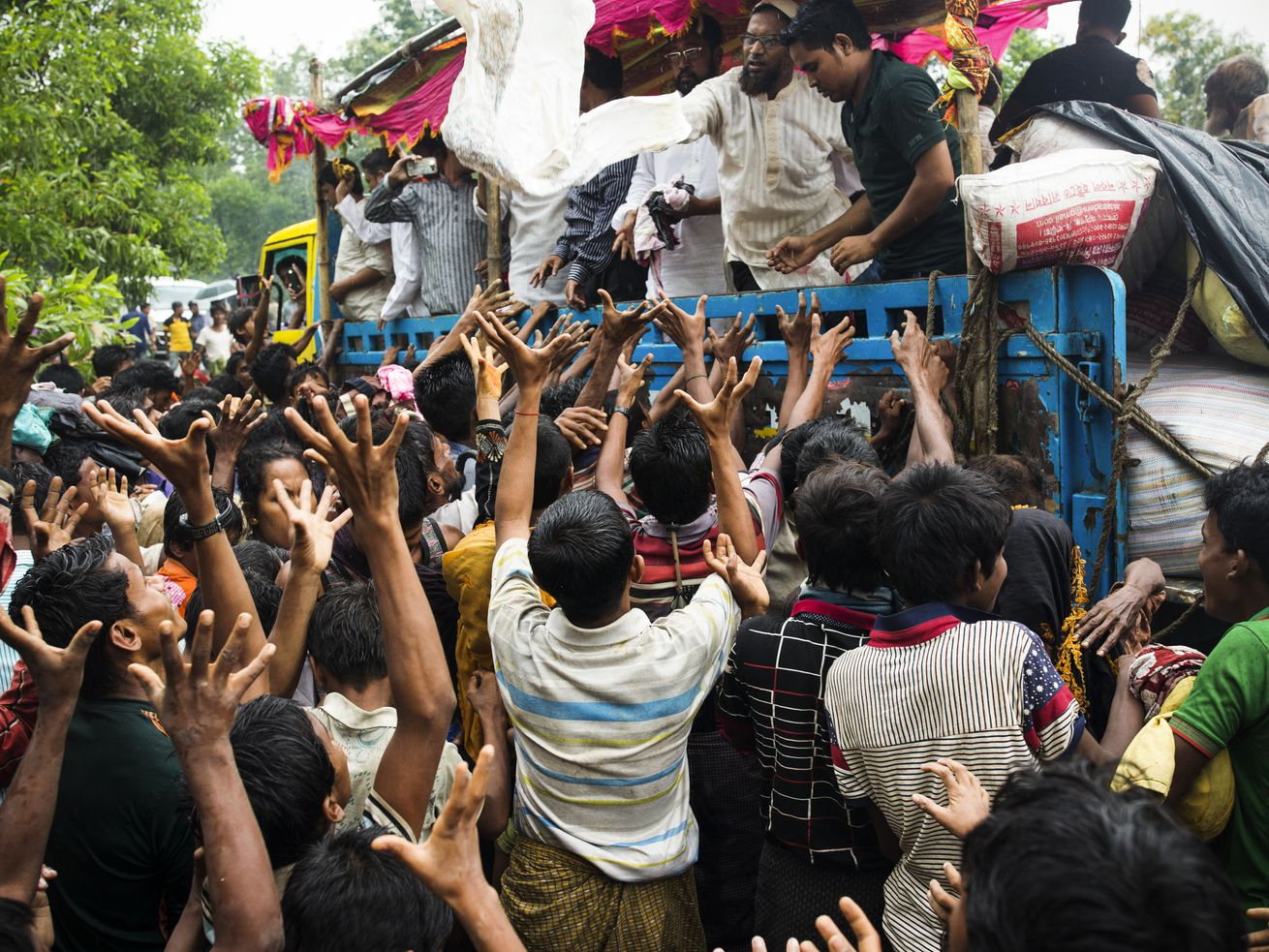 Refugees receive social relief in Bangladesh