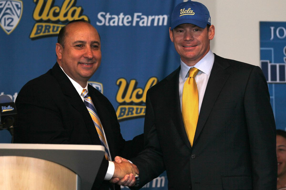 We can only hope that Jim Mora brings UCLA just as much success as the man who hired him.