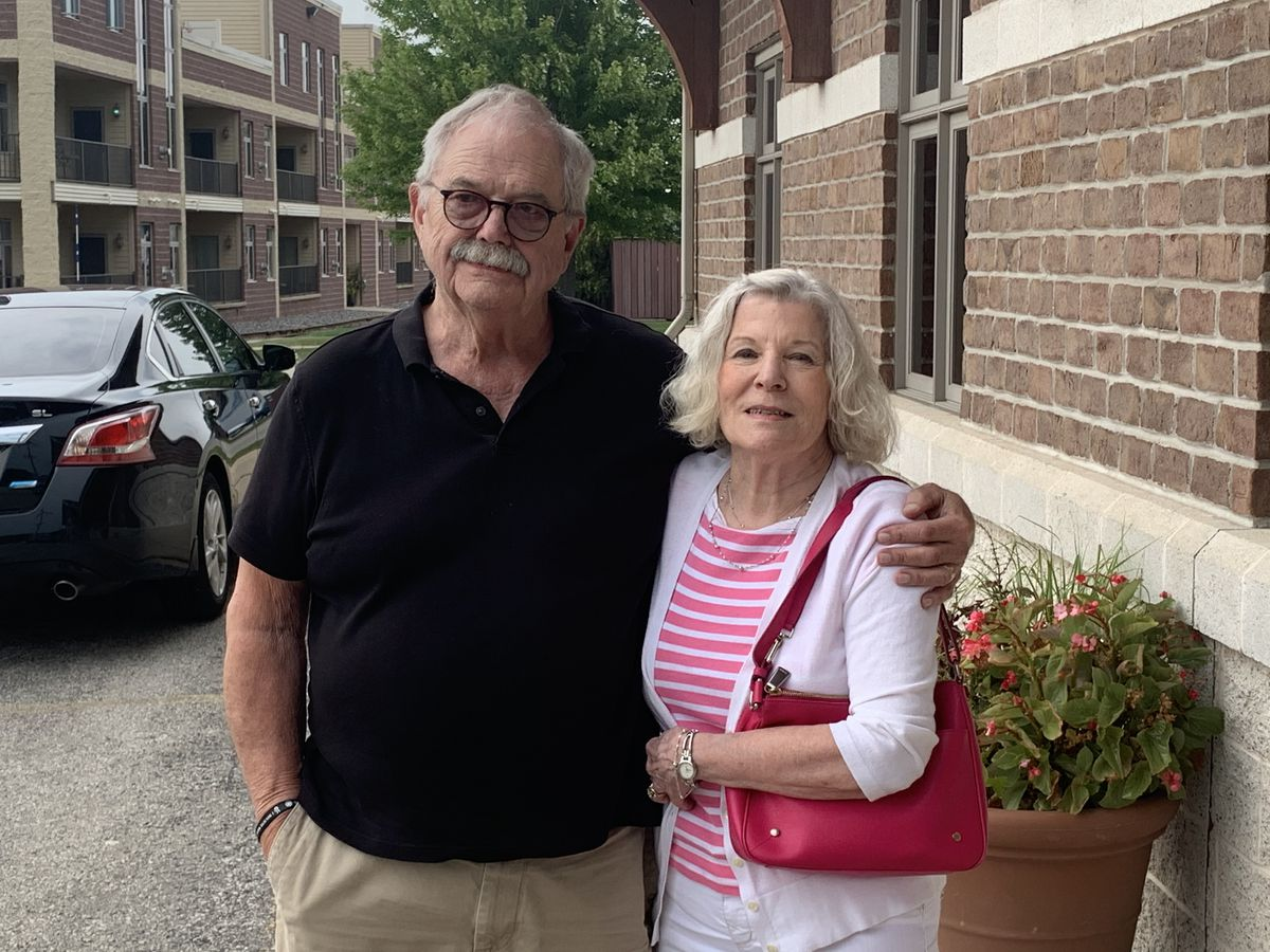 David L. Lindstrom and Mary Lindstrom, parents of Nate Lindstrom, in De Pere, Wis.