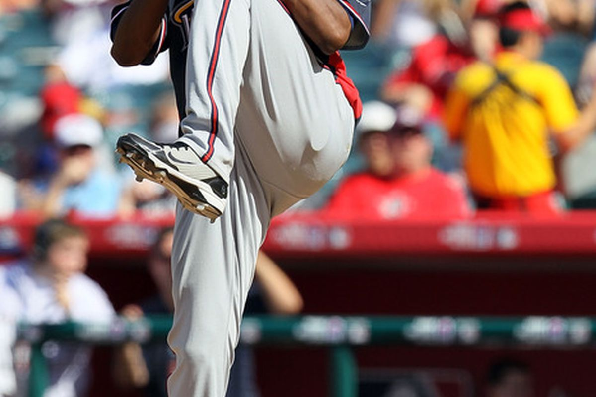 Atlanta Braves prospect Julio Teheran during the All-Star Futures Game.