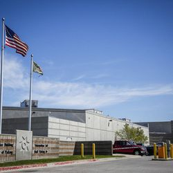 The Salt Lake County Jail in South Salt Lake is pictured on Monday, May 1, 2017.