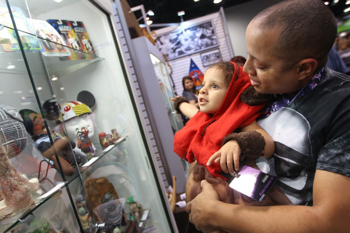 """There's fun for """"Star Wars"""" fans of all ages at Star Wars Celebration, including an array of vendors featuring officially licensed collectibles and other memorabilia. 