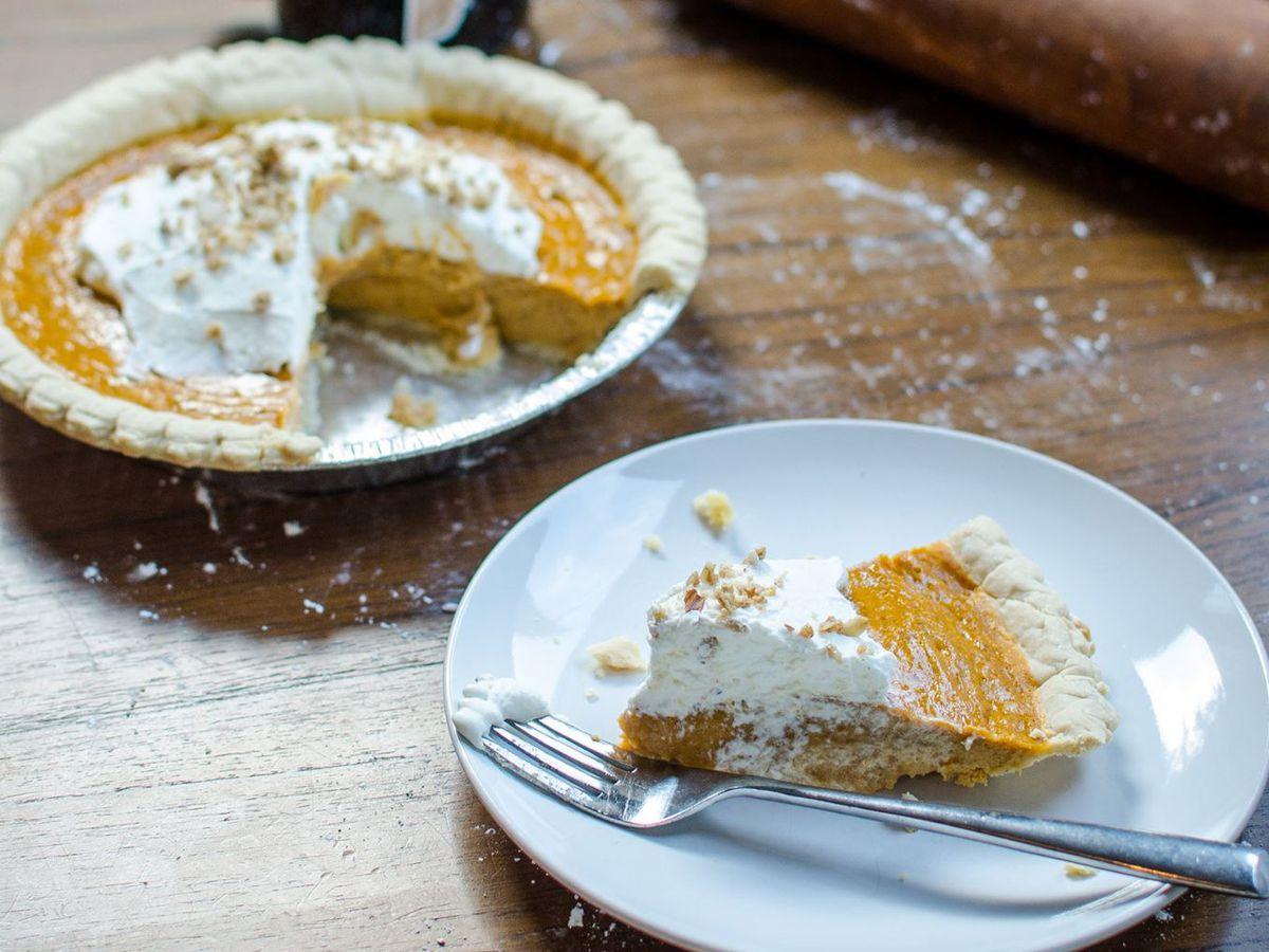 The pumpkin custard pie at Teal House