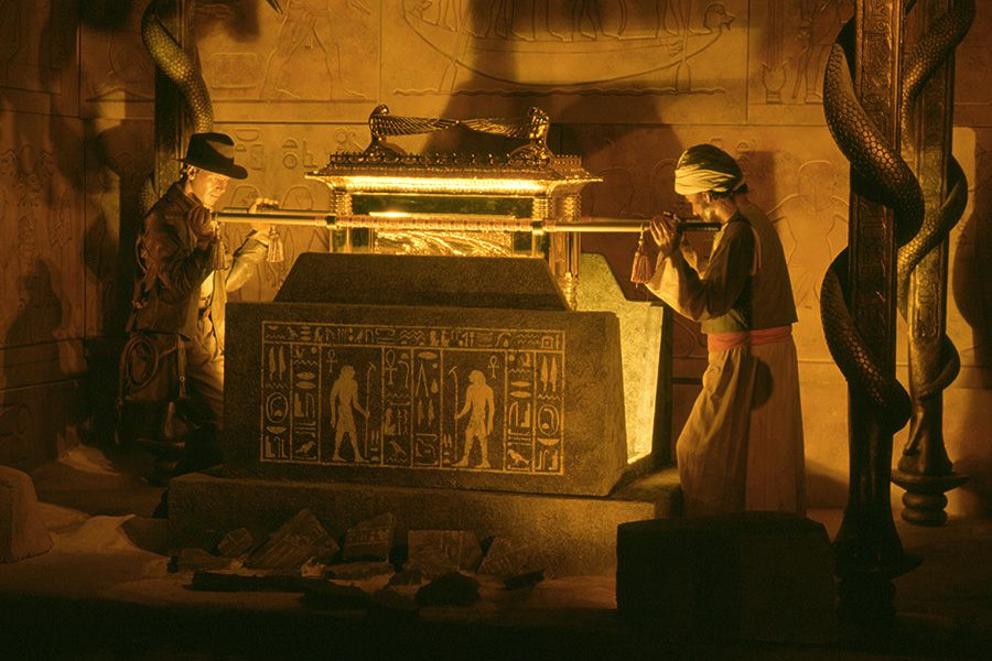 a scene from Indiana Jones and the Raiders of the Lost Ark in The Great Movie Ride