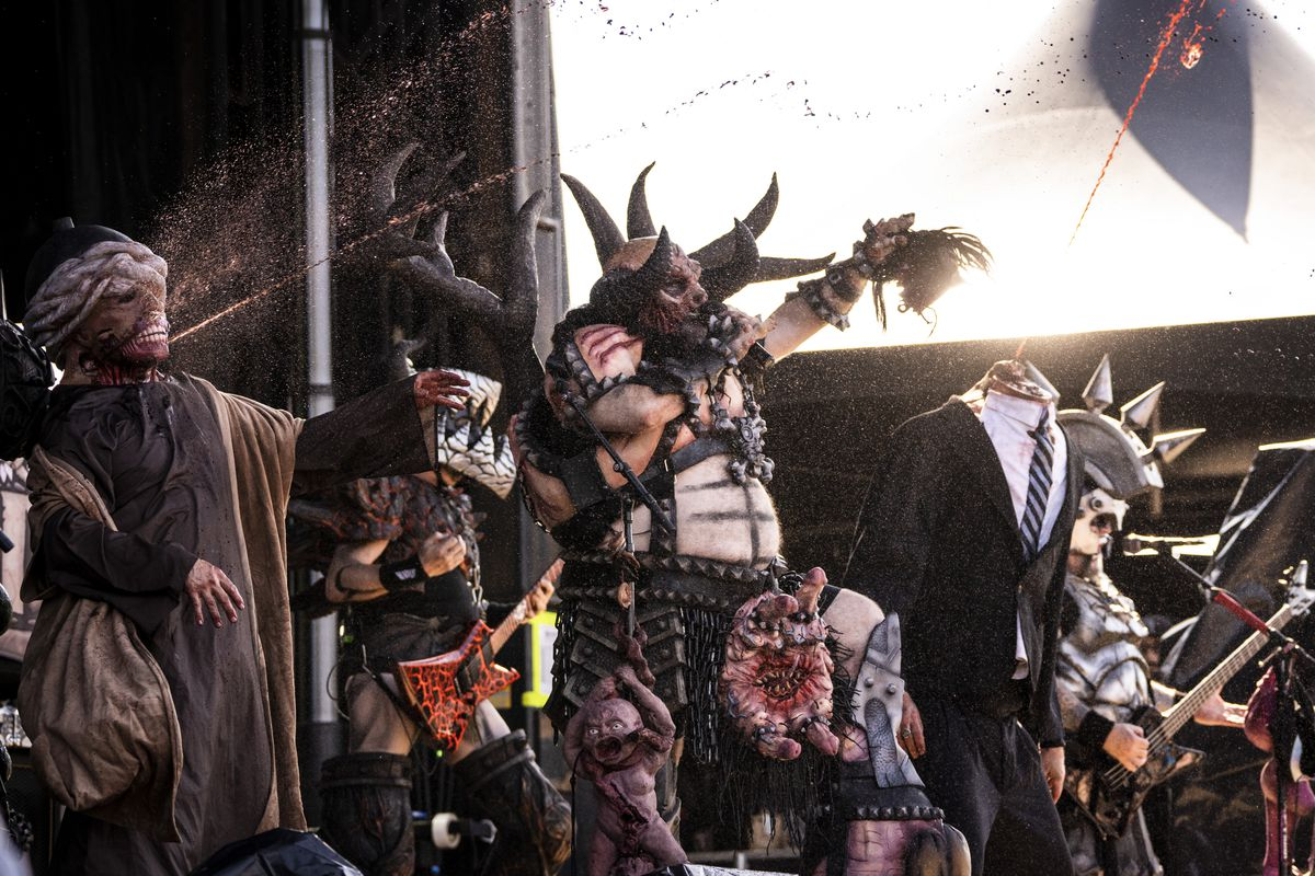 Gwar performs on Day 3 of Riot Fest in Douglass Park, Saturday afternoon, Sept. 18, 2021.